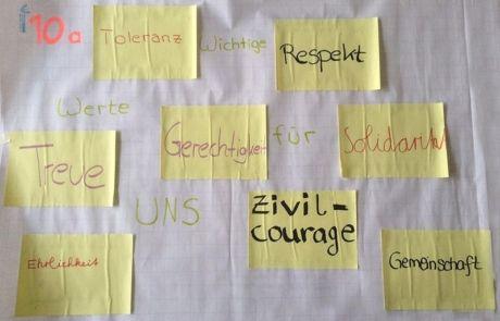 Tage der Werte im Schuljahr 2015/16